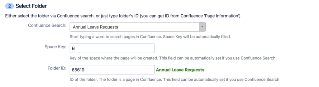 How to Automatically Create Confluence Pages from Jira Issues - Easy Integrations for Jira - Select Folder for Confluence Page