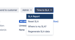 Time to SLA Jira Plugin - New Features - Separate Context Menu
