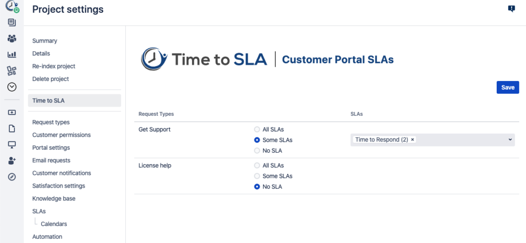 Time to SLA Jira Plugin - New Features - SLAs in Jira Service Desk Portal