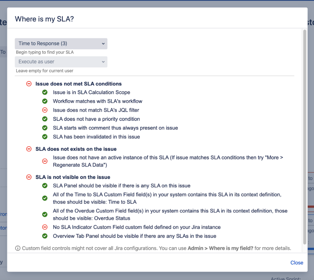 Time to SLA Jira Plugin - New Features - Where is my SLA?
