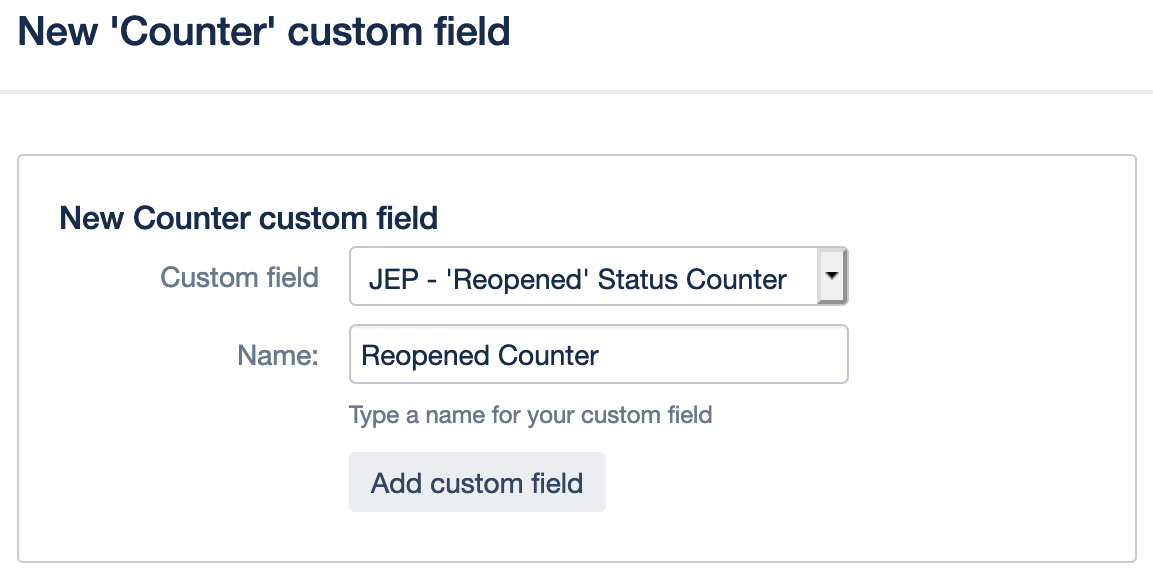 Enhancer Plugin for Jira - Counter Custom Field