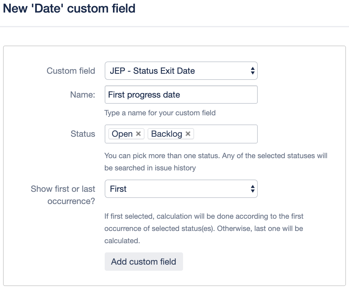 Enhancer Plugin for Jira - Date Custom Fields